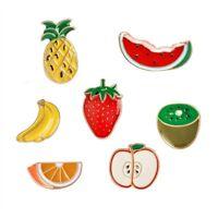 Fashion Cute Multi-color Fruit Enamel Lapel Collar Pin Corsage Brooch Jewelry