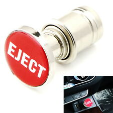 "Universal Sports Red ""Eject"" Push Button Design Car Cigarette Lighter Plug Cover"