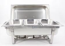 Chafing Dish Speisenwärmer  Warmhaltebehälter 3x1/3GN Behälter Faltbar