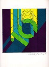 "litografia Arnaldo Pomodoro ""Numero 10"" / ""Number 10"" - Firmato/Signed"