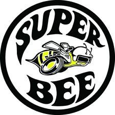 VINTAGE DODGE SUPER BEE DECAL STICKER LABEL 9 INCH DIA 230 MM HOT ROD xx