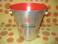 Ancien SEAU A CHAMPAGNE TAITTINGER REIMS en ALU Ice Bucket Wine Glace French Vin