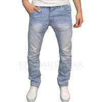 """Enzo EZ Mens Designer Regular Fit Straight Leg Denim Jeans. 28""""-48"""", BNWT"""
