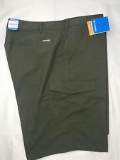 Columbia hombre informal pantalones cortos verde oliva 48 27.9cm tiro Poliéster