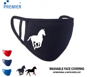 Horse Pony Premier Adults Youths Kids Face Mask Reusable Washable Breathable