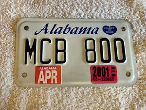 ALABAMA **CLEARANCE £3.99** MOTORCYCLE USA Genuine Pre-Owned License Plate