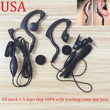 2x Headset/Earpiece Mic For Motorola Radio Walkie Talkie MD200 MS350 MS355 MT350