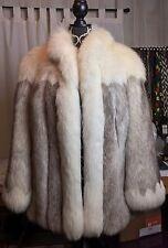 Saga Finland Blue Fox Fur Coat Sz M Excellent Condition!