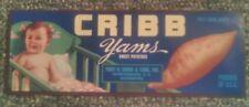 100 Cribb Yam Crate Labels Spartanburg South Carolina 1940's Original Wholesale!