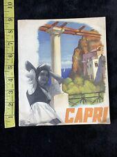 1930's Vintage Italy Travel Brochure Capri 1937 Enit Original