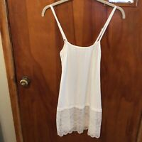 Tank, Lace Extender Tank,white,small