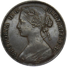 More details for 1860 penny - victoria british bronze coin - very nice