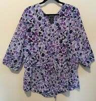 Faded Glory Womens 3/4 Sleeves Scoop Neck Pullover Tunic Top Size XXL (20)