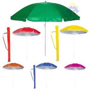 giardino Non null parasole fisso per esterni manuale con manico Taglia libera patio Xuey ombrello da spiaggia con picchetto rimovibile e portatile antivento supporto da pesca Rosso
