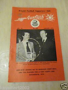 GUNFLASH - ARSENAL Football  Supporters Club Magazine Vol 30  No 293 Jan 1979