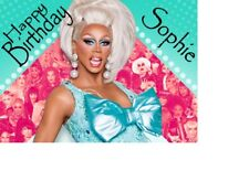 PERSONALISED Drag Queen Rupaul Gay Birthday Card A4 TRIFOLD ANY NAME AGE