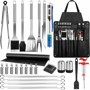 BBQ Grill Tools Set 30PCS Stainless Steel Barbecue Grill Accessories