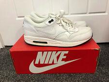 Nike Air Max 1 Essential blancas negras para hombre Entrenador UK 9