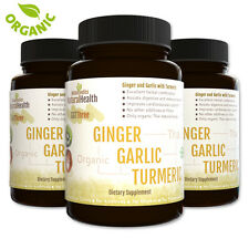 3 Bottles of Organic Ginger, Garlic & Turmeric  Mix - Circulatory Antioxidant