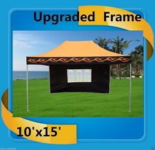 10'x15' Pop Up Canopy Party Tent EZ - Orange Flame - F Model Upgraded Frame