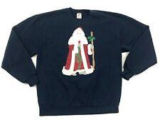 80s Jerzees Crew Neck Size L Santa Sweater VINTAGE crew neck Sweatshirt Sewn USA