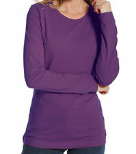 Women's T-Shirt Woolrich First Forks NEW NWT Long Comfy Purple $45 Size Small