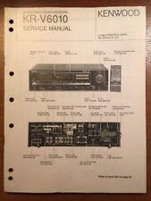 KENWOOD KR-V6010 STEREO RECEIVER ORIGINAL SERVICE MANUAL P286