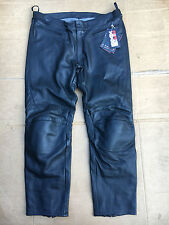 "RST INTERSTATE 3 Mens Leather Motorcycle Trousers Pants Jeans UK 42"" Waist (36)"