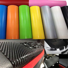 Black 3D Carbon Fiber Vinyl Car Wrap Sheet Roll Film Sticker Decal 10*127cm DIY