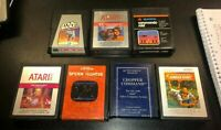 Atari 2600 Lot of 7 Star Wars ESB ET Commando Raid Jungle Hunt Swordquest More