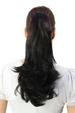 Haarteil Zopf glatt schwarz Mittellang Pferdeschwanz