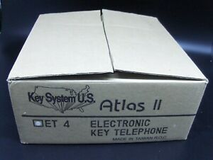 NOS Atlas ll Electronic Key Telephone Model ET 4 White NIB Unused Mint