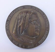 """""""HOMAGE OF THE FRENCH LUSO COLLEGE TO HER DIRECTOR ANA ERMELINDA"""" BRONZE MEDAL"""