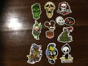 10 retro Tattoo art skull Occult home decor vinyl man cave stickers mancaveidea