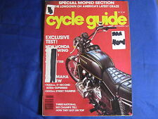 CYCLE GUIDE Magazine-NOV 1977-HONDA GL1000 GOLDWING-YAM DT125E-TONY D- B HANNAH