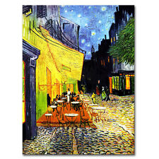 Van Gogh Starry Night  City Wall Art Retro Cafe Canvas Print Art Home Decor 1Pcs