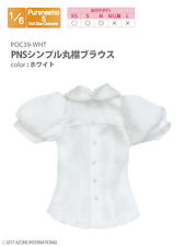 Azone Pureneemo PNS Simple Round Collar Blouse White Blythe Pullip 1/6 Obitsu