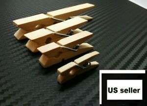 Bulk Wood Clothespins Wooden Laundry Clothes Pins Large Spring Crafts DIY New