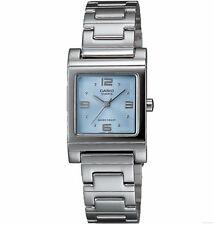 Casio Women's Silvertone Stainless Steel Watch, Blue Dial,   LTP1237D-2A