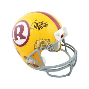Sonny Jurgensen HOF Autographed Redskins Yellow Full-Size Football Helmet - JSA