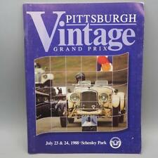 Pittsburgh Vintage Gran Prix Program 1988 Classic Cars Automobiles