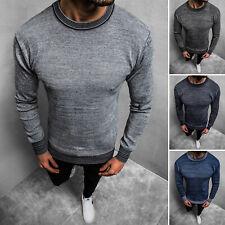 Suéter jersey de punto Sweater Basic monocromo manga larga camisa señores ozonee 1832z