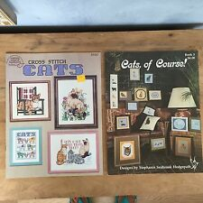 Lot 2 Cross Stitch Pattern Books Cats Persian Manx Siamese Himalayan Burmese +