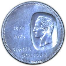 VENEZUELA 10 BOLIVARES 1973 ARGENT