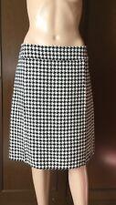 Double skirt handmade  MaxMara Woman, black / white, size 48, on the silk lining
