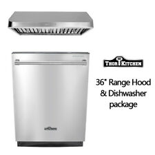 Thor Kitchen BuildIn 24 inch dishwasher 36'' range hood package Stainless Steel