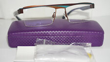 Alain Mikli Eyeglasses Frame RX Blue Half Rimless A01119 M00E 52 16 140