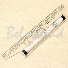 Multi-purpose Clear Metric Parallel Drawing Rolling Ruler measurement tool