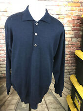 COMO SPORT GOLF MEN'S BABY ALPACA WOOL POLO SWEATER SIZE LARGE