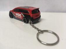 Custom Keychain Hot Wheels Red Honda Odyssey NGK Spark Plugs